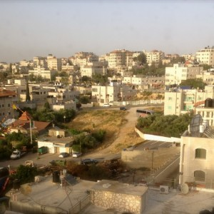 The view from the roof of the Assad home in East Jerusalem overlooking Beit Hanina. (Photo: Samah Assad)