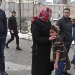 Saleh Abu Shamsiya, 10, after the attack (Photo: Imad Abu Shamsiya)