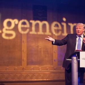 Trump at the Algemeiner gala, photo by Sarah Rogers