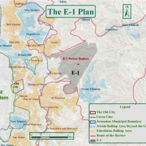 E1 map showing Issawiya and Anata to the west