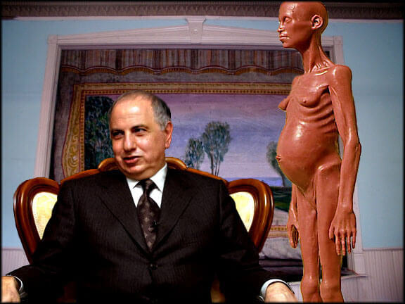 Ahmed Chalabi, with completely inexplicable object.