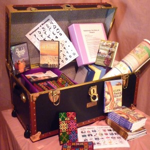 The Palestine Teaching Trunk. (Photo courtesy of Linda Bevis)