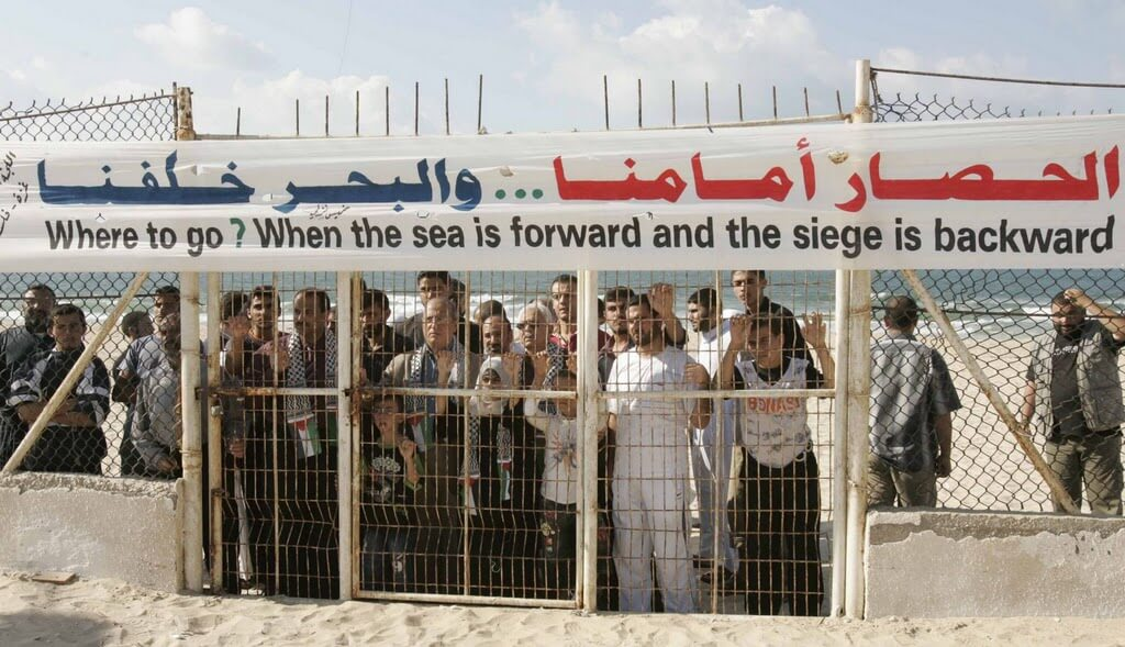 A protest in Gaza. (Photo: Palestinian Mission - UK)