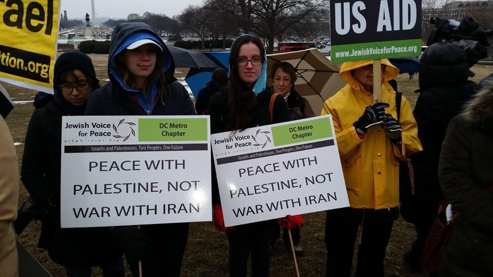 Protest against Benjamin Netanyahu's speech to Congress. (Photo: Facebook)