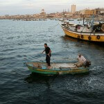 Fishermen off the coast of Gaza.