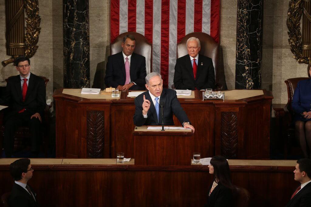Netanyahu addresses Congress, March 3, 2015. (Photo: Doug Mills/The New York Times)