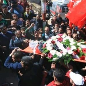 Ali Mahmoud Safi's funeral in Ramallah.