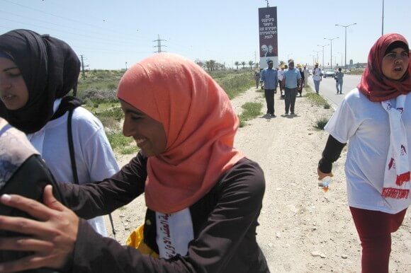 Bedouin March for Recognition. (Photo: Allison Deger)