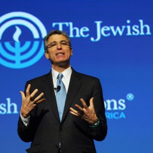Reform leader Rabbi Rick Jacobs, shown speaking at the Jewish Federations of North America General Assembly in Baltimore, November 2012. (Robert A. Cumins/JFNA)