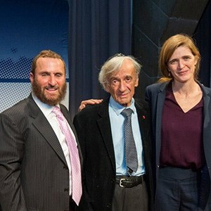 Boteach and Samantha Power, along with Noah Feldman and Elie Wiesel