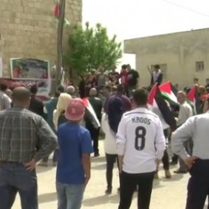 Protesters gather in Nabi Saleh, photo by ISM