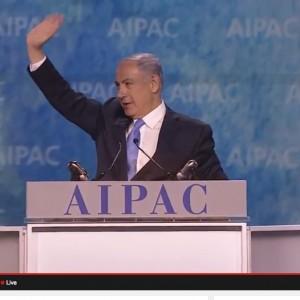 Netanyahu at AIPAC this morning