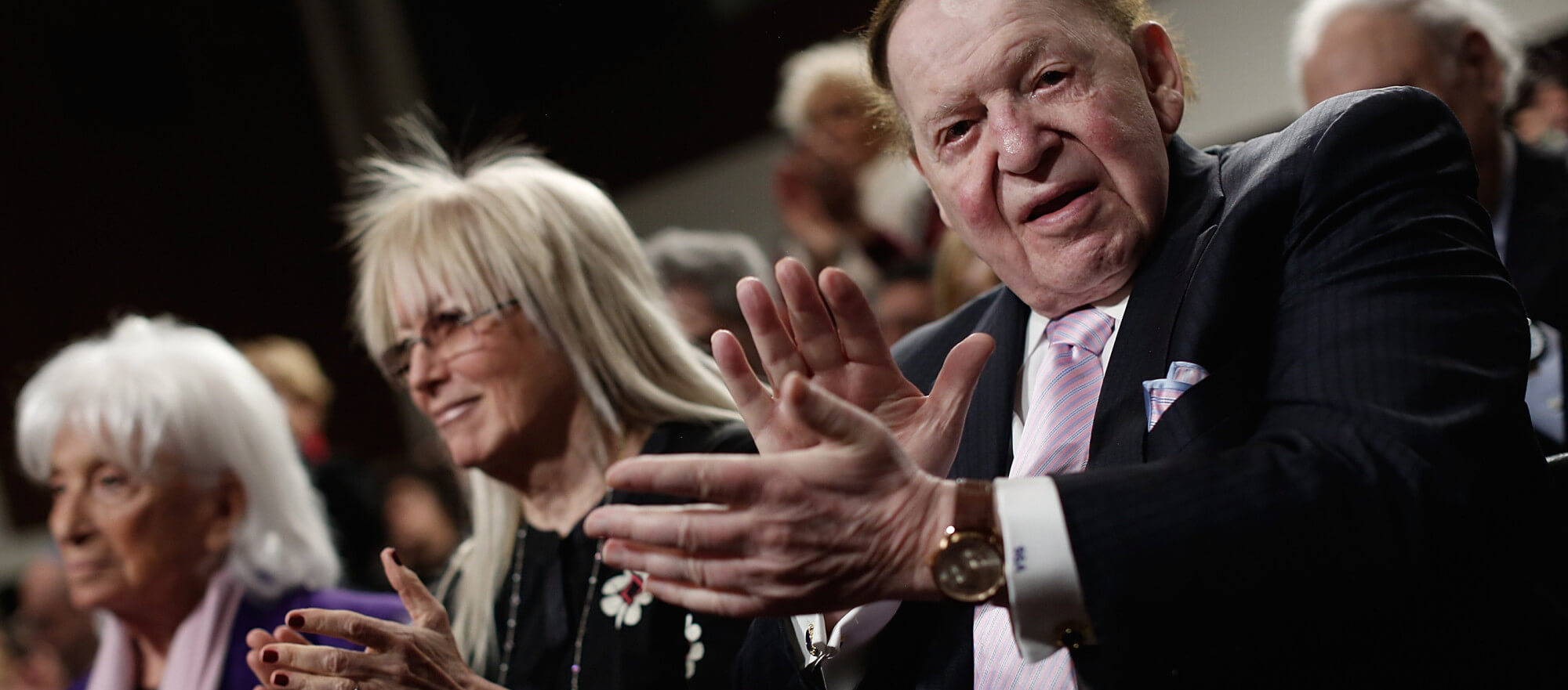 Sheldon Adelson, in Washington March 2