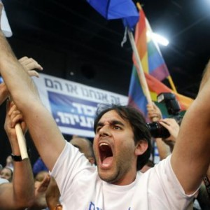 Likud party supporters react after hearing exit poll results in Tel Aviv March 17, 2015. REUTERS/Nir Elias