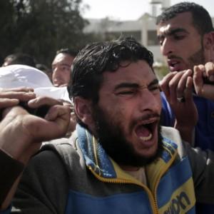 Funeral of Tawfiq Abu Riala, Gaza