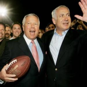 Patriots owner Robert Kraft and Israeli Prime Minister Benjamin Netanyahu.