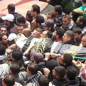 Funeral of Ja'afar 'Awad, from Ma'an