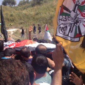Funeral of Muhammad Murad Yahiya, 18, after he was shot dead by Israeli forces late Monday in al-Araqa village west of Jenin. (Photo: Maan News)