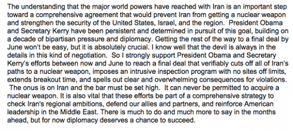 Clinton Iran statement