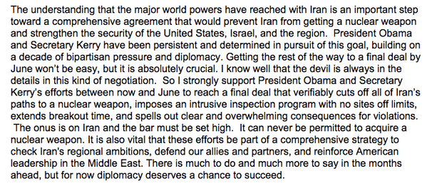 Clinton Iran statement