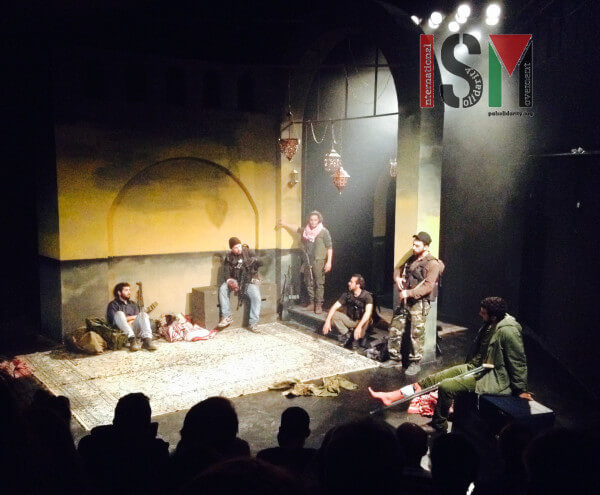 Scene from Palestine's community-based Freedom Theatre: The Siege (Photo: International Solidarity Movement)