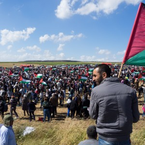 Thousands gathered to commemorate the Nakba. (Photo: Dan Cohen)