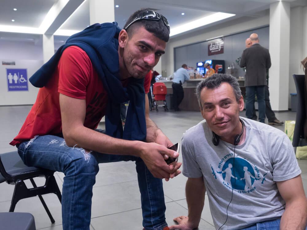 Palestinian members of Combatants for Peace Yahya Anati and Ahmed Al-Helou. (Photo: Dan Cohen)