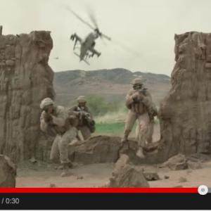 Screenshot: United States Marine Corps recruitment video: Wall
