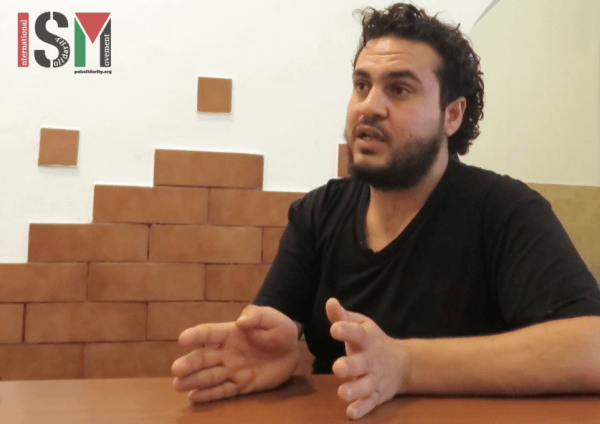 Alaa Shehada, assistant director of The Siege (Photo: International Solidarity Movement)