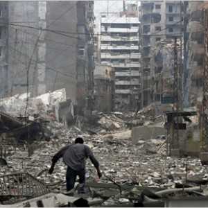 The aftermath of Israel's 'Dahiya doctrine' in Beirut, 2006.
