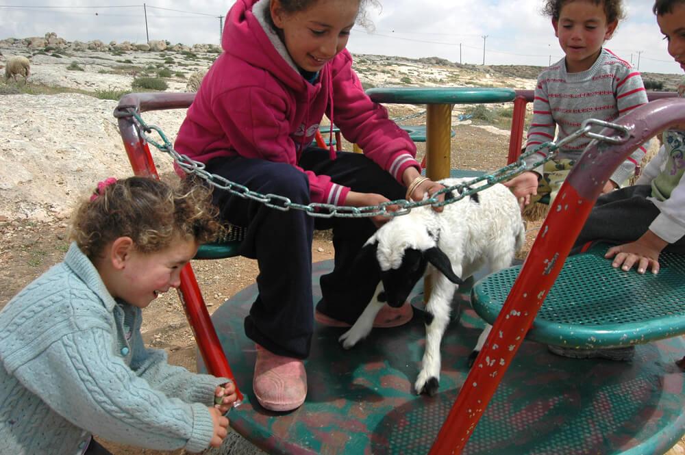 Children play in Susiya. (Photo: Allison Deger)