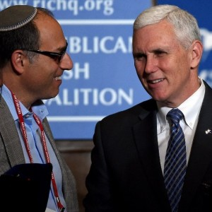 Indiana Governor Mike Pence addresses the Republican Jewish Coalition.