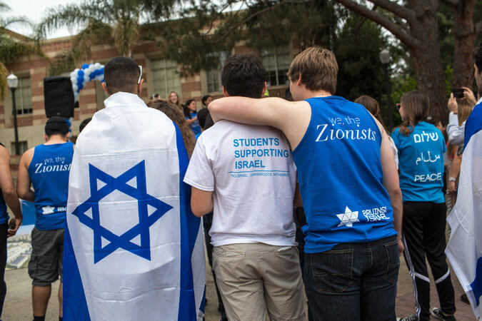 Photo of UCLA students at Israeli independence day that accompanied piece in NYT on BDS. By Monica Almeida