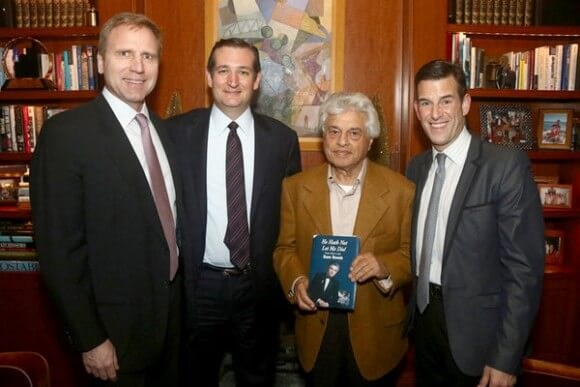 Mati Weiderpass, Senator Ted Cruz, Sam Domb and Ian Reisner. photo in NYT, via Kalman Sporn