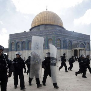 Israeli police at al Aqsa Mosque in 2012.