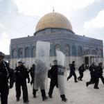 Israeli police at al Aqsa Mosque in 2012.