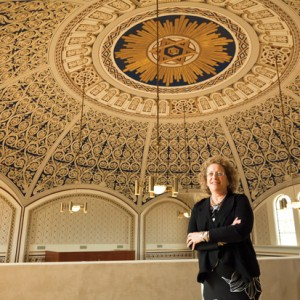 Frances Levine, president of the  Missouri History Museum, pictured at the Missouri Historical Society's library and research center, housed in the former United Hebrew building in St. Louis. (Photo: Lisa Mandel for the St. Louis Jewish Light)