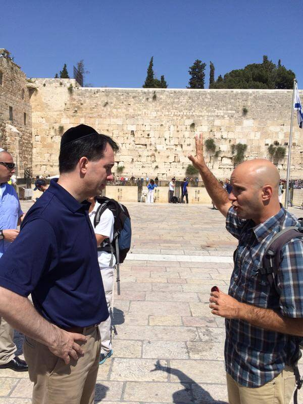 Scott Walker at the Western Wall, May 11 2015