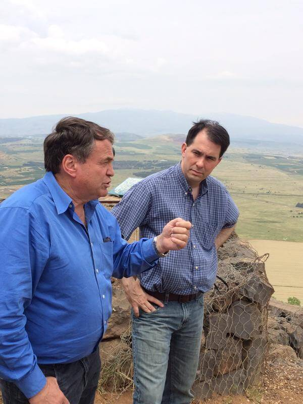 Scott Walker on the Golan Heights