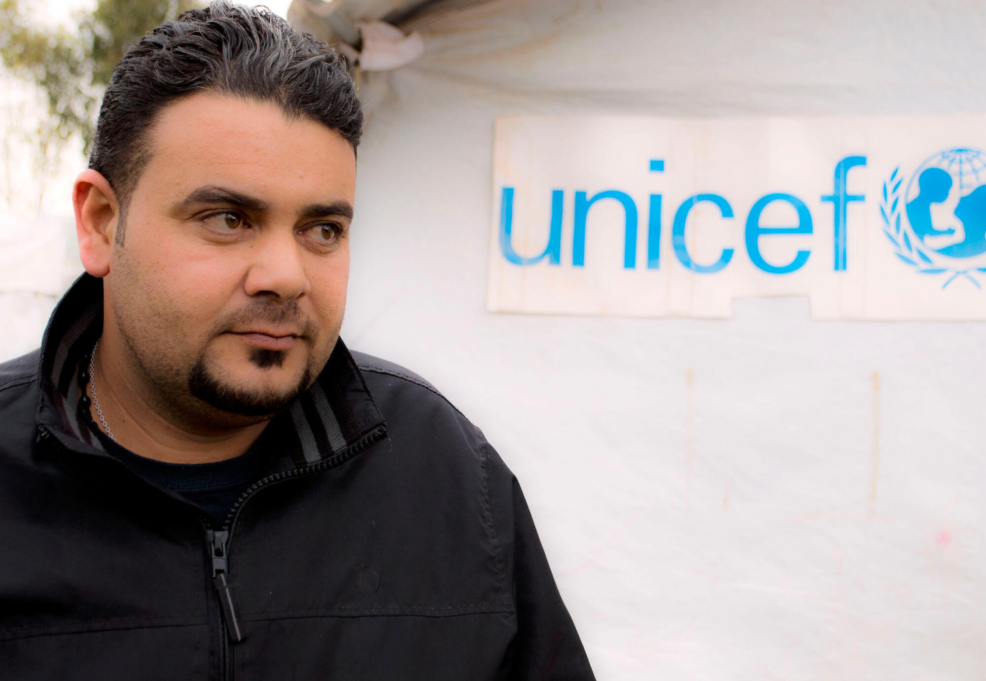 """Ahmad Adiyab says being a Palestinian refugee in Iraq has been a curse. The Palestinian families at Bahaka are all one big family he says - everyone looks out for each other. But Adiyab says he doesn't want to have children - """"I don't want them to have the same life I have had."""" (Photo: Abed Al Qaisi)"""