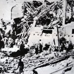 On 4 January 1948 the Zionist militia Lehi detonated a truck bomb outside the 3-storey 'Serrani', Jaffa's Ottoman built Town Hall, killing 26 and injuring hundreds. (Photo: Wikipedia)