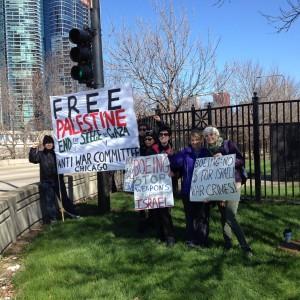 Boeing shareholder's meeting protest.