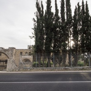 The Beit Al-Baraka church compound on Route 60. (Photo: Sara Anna)
