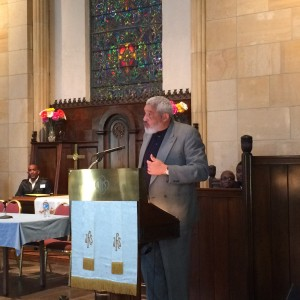 Rev. Graylan S. Hagler speaking at the Sabeel DC Metro conference. (Photo: Bill Simonds)