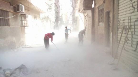 Yarmouk refugee camp. April 2015. (Photo: Yarmouk63 Radio)