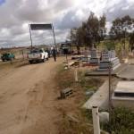Israeli authorities enter al-Araqib village and its cemetery. (Photo: Rabbis for Human Rights)