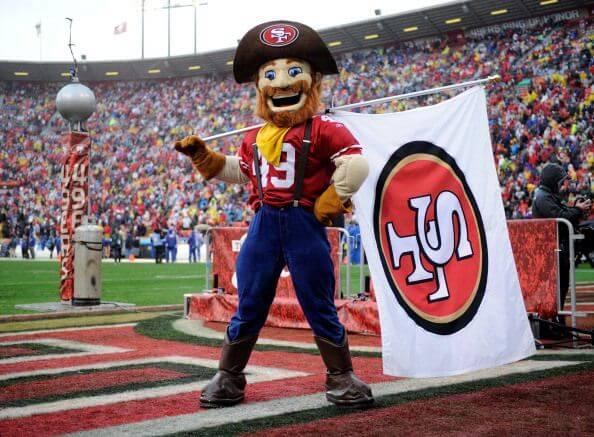 San Francisco 49ers mascot.