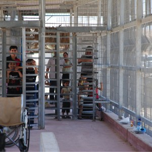 The walkway from Gaza to Israel at the Erez crossing. (Photo: Oxfam)