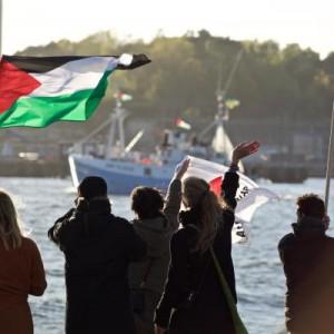 Marianne of Gothenburg departs. (Photo: Ship to Gaza)