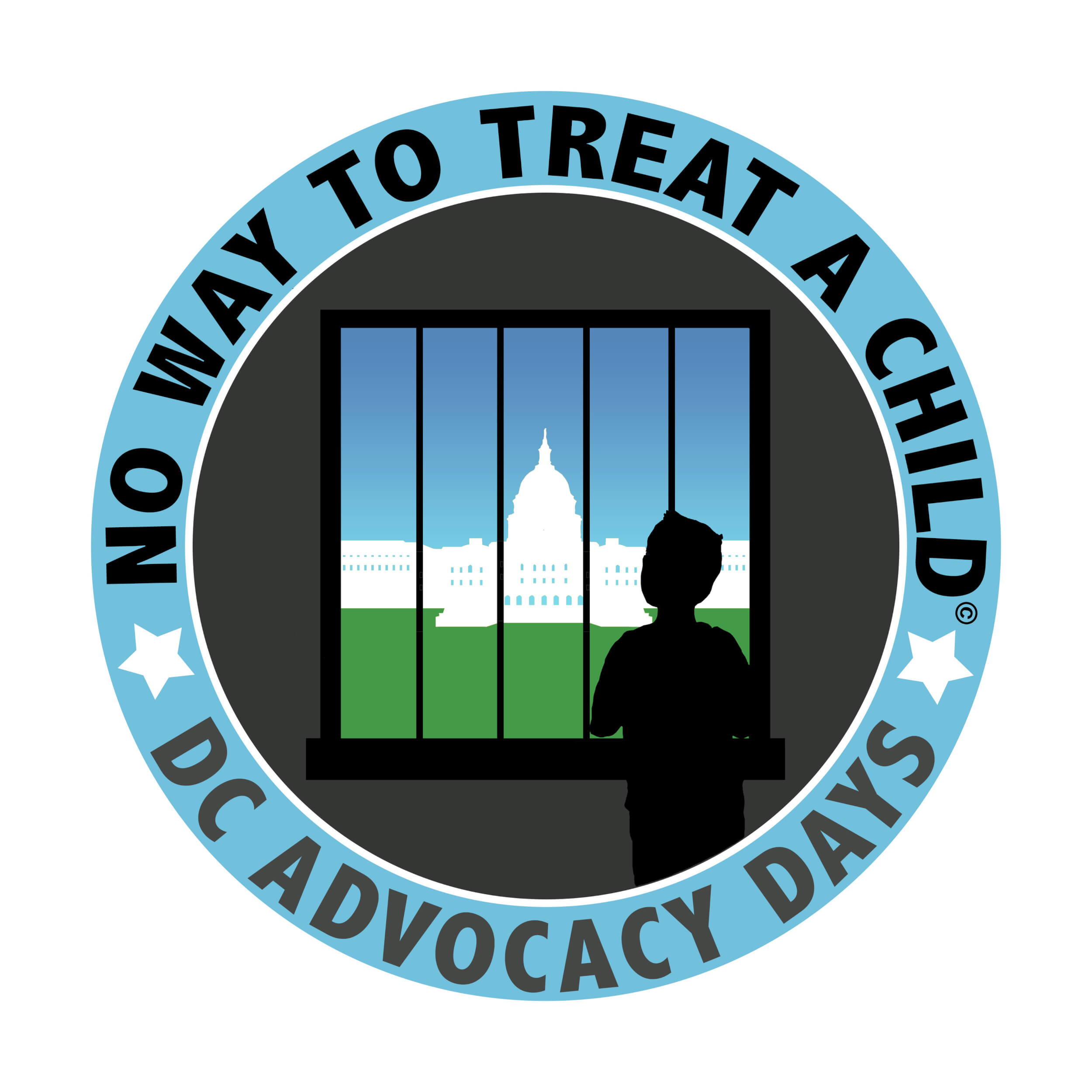'No Way to Treat a Child' advocacy days logo